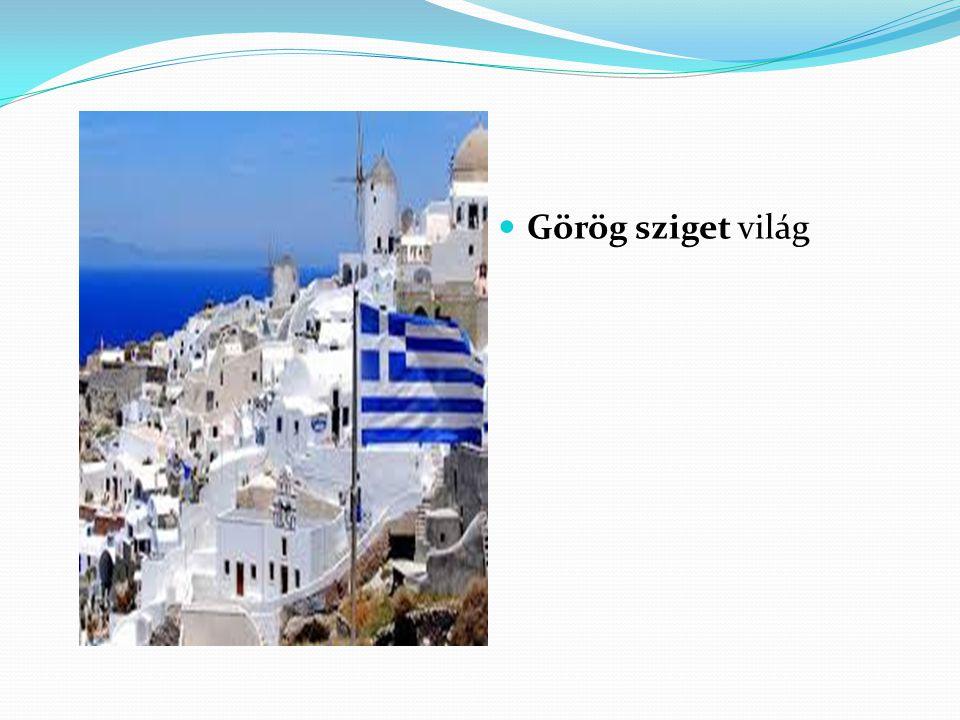 Görög sziget világ
