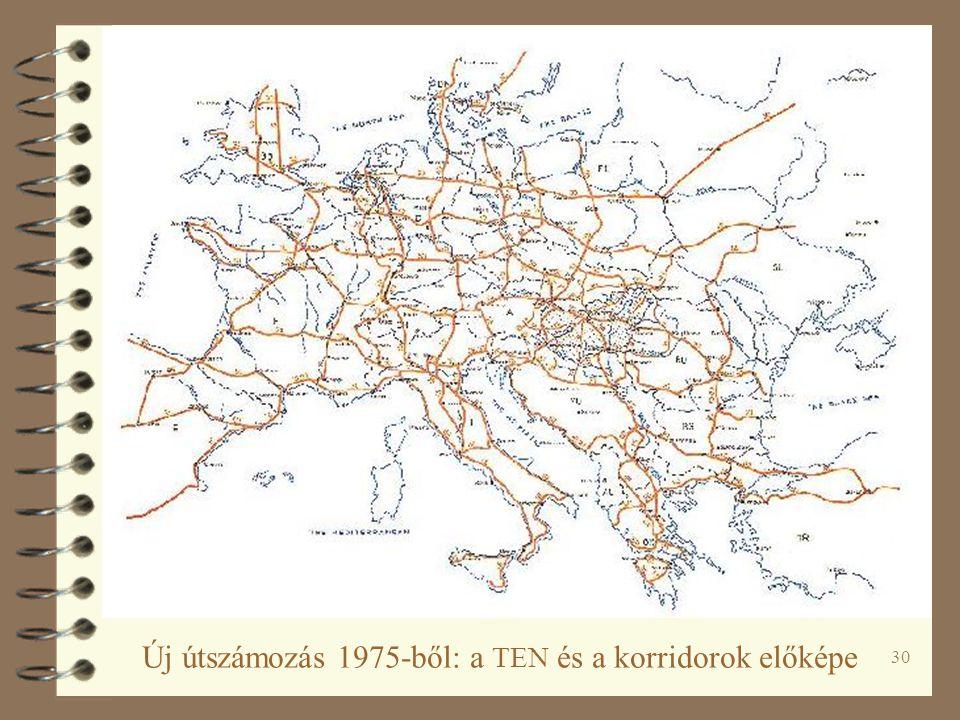 30 Új útszámozás 1975-ből: a TEN és a korridorok előképe