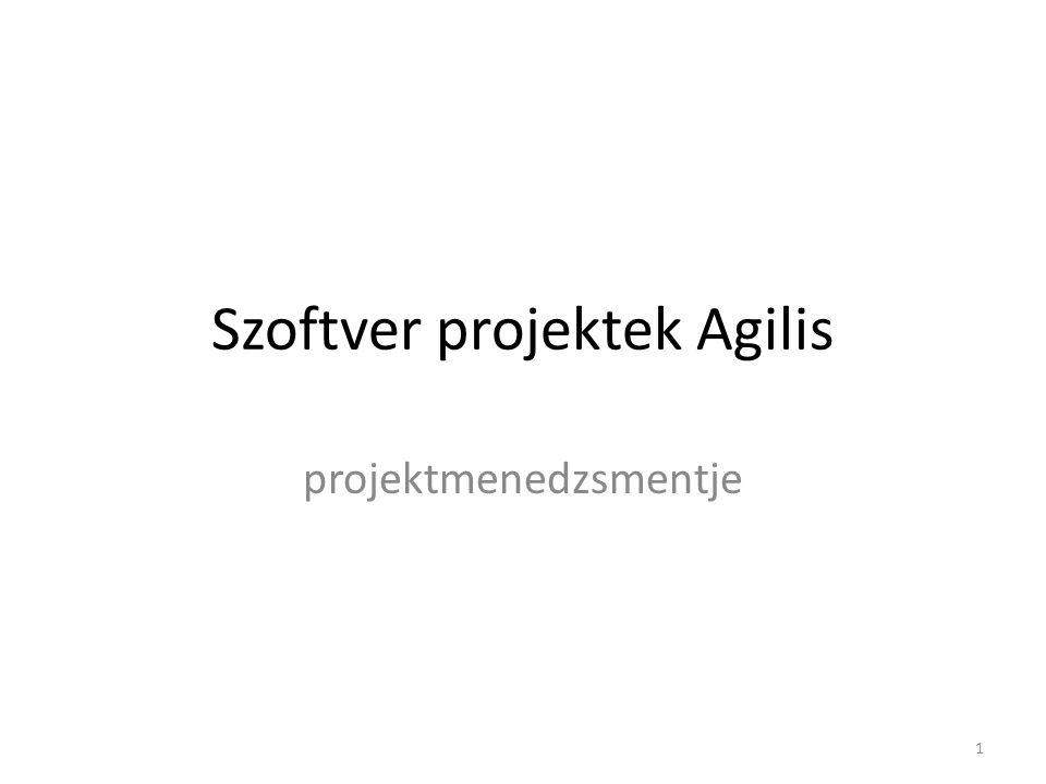 Szoftver projektek Agilis projektmenedzsmentje 1