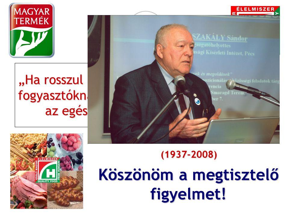 """Köszönöm a megtisztelő figyelmet! """"Ha rosszul megy a termelőknek, az rossz a fogyasztóknak is, és ez válságba sodorhatja az egész osztrák élelmiszerip"""