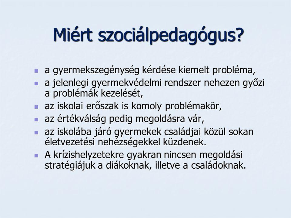 Miért szociálpedagógus.Miért szociálpedagógus.