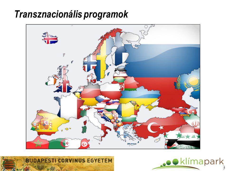 10 Transznacionális programok  Bilaterális (pl.
