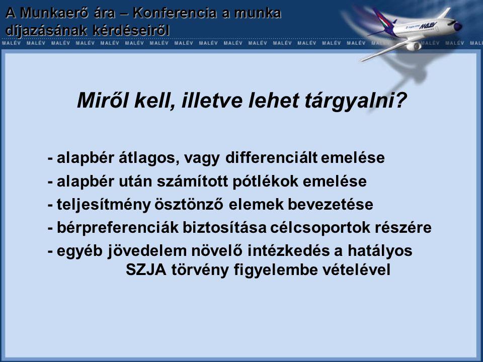 A Munkaerő ára – Konferencia a munka díjazásának kérdéseiről Miről kell, illetve lehet tárgyalni.