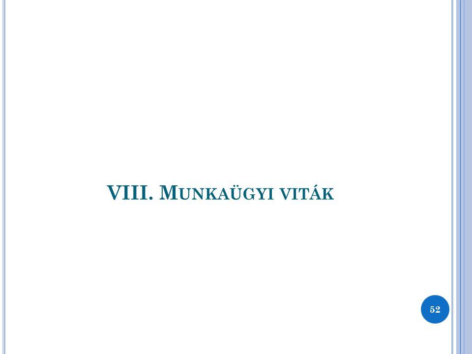 VIII. M UNKAÜGYI VITÁK 52