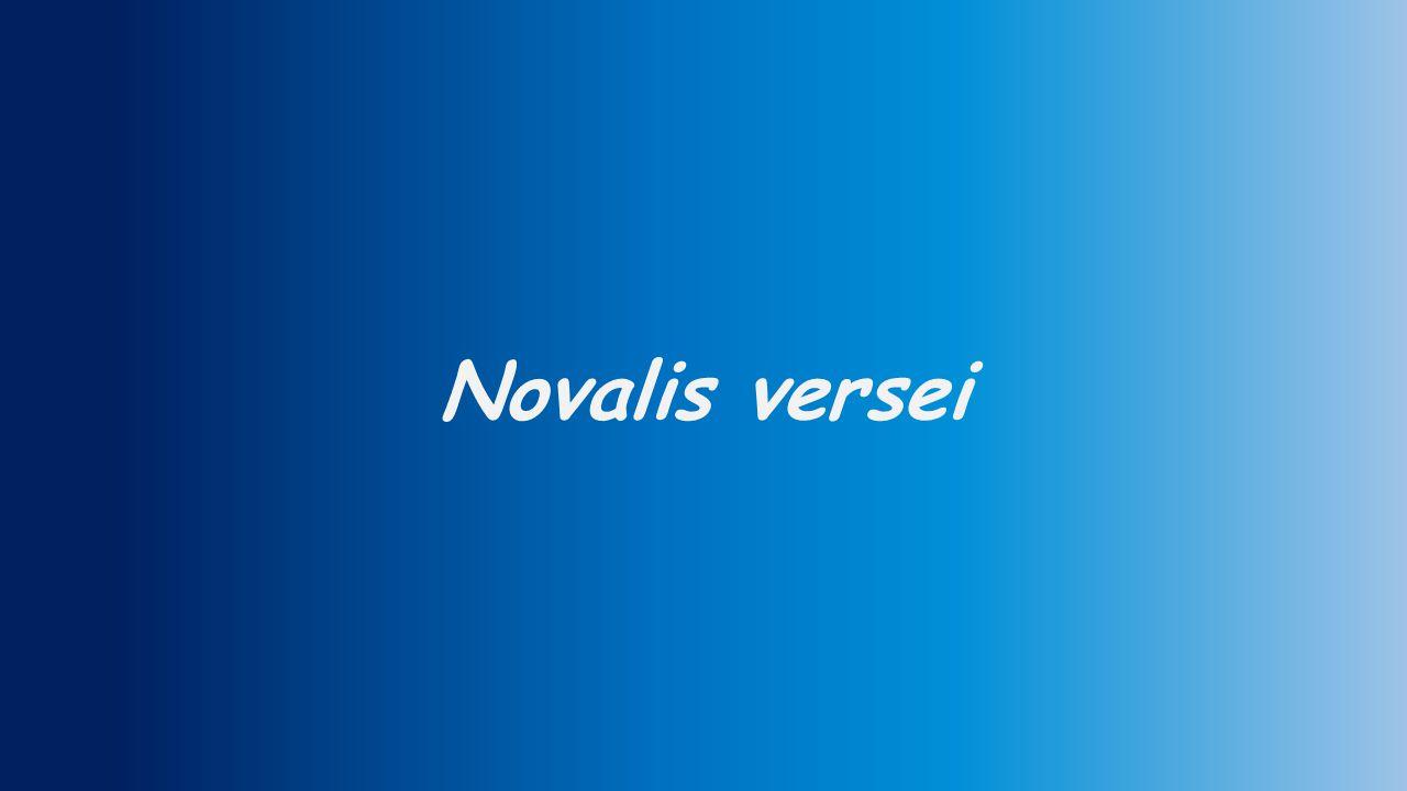 Novalis: Föltámadás Dalra, hegység, táncra, dombok, örvendezzék, ami él.
