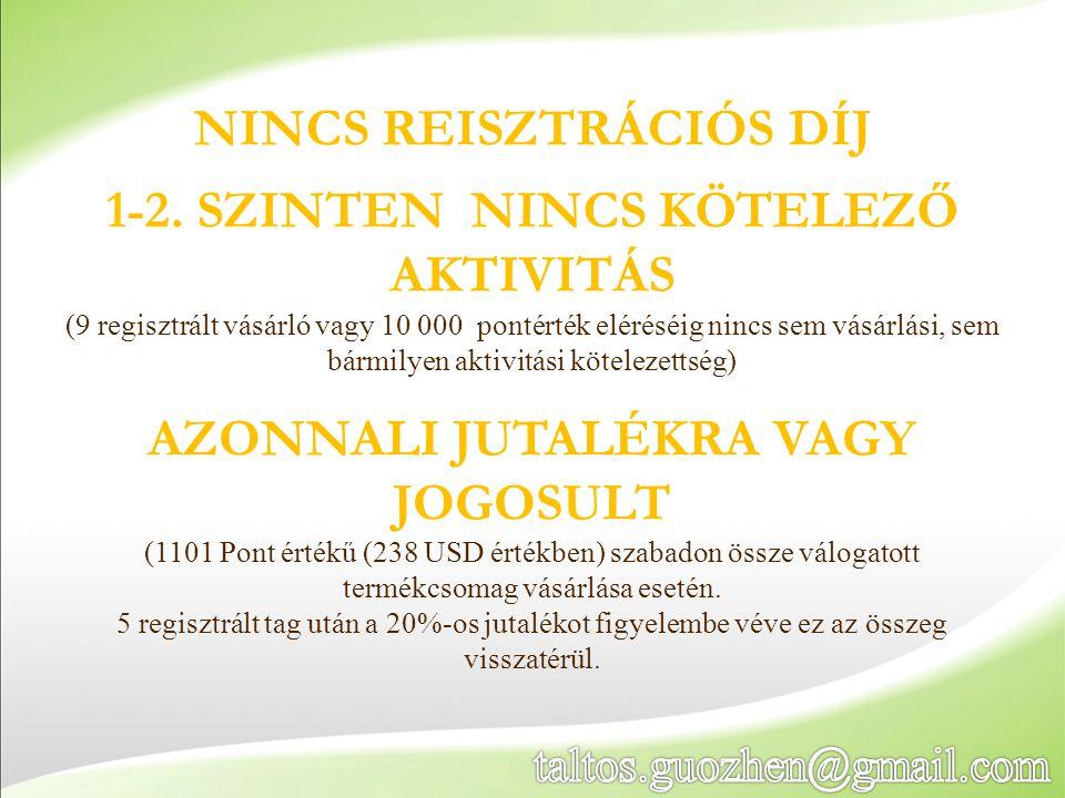 NINCS REISZTRÁCIÓS DÍJ 1-2.
