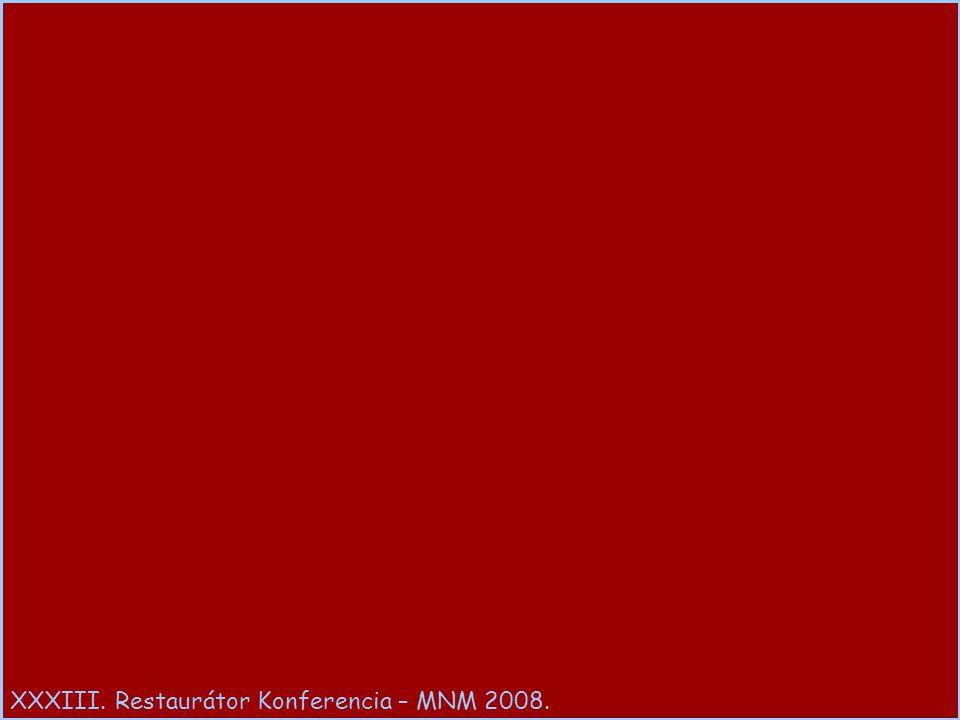 XXXIII. Restaurátor Konferencia – MNM 2008.