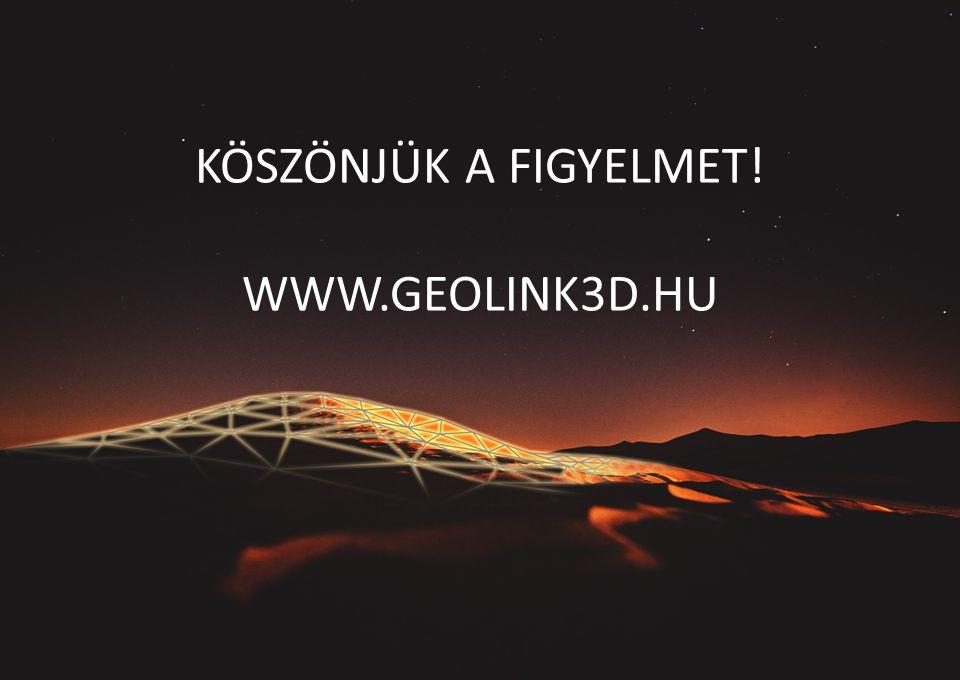 KÖSZÖNJÜK A FIGYELMET! WWW.GEOLINK3D.HU