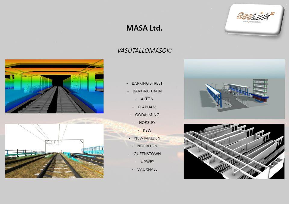 MASA Ltd. VASÚTI KOCSIMOSÓK: -CHINGFORD -CLACTON -COLCHESTER -EAST HAM