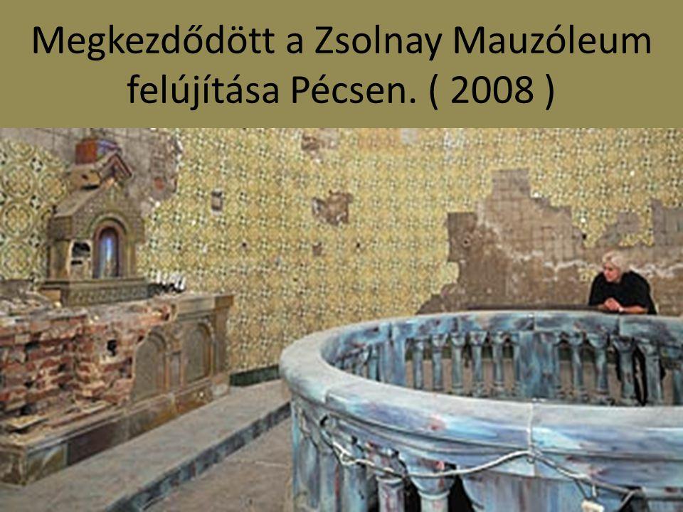 A porcelánmanufaktúrában kiégették az első pirogránit oroszlán mását abból a negyvenkettőből, mely egykor a gyáralapító Zsolnay Vilmos és felesége nyughelyéhez vezető utat díszítette.