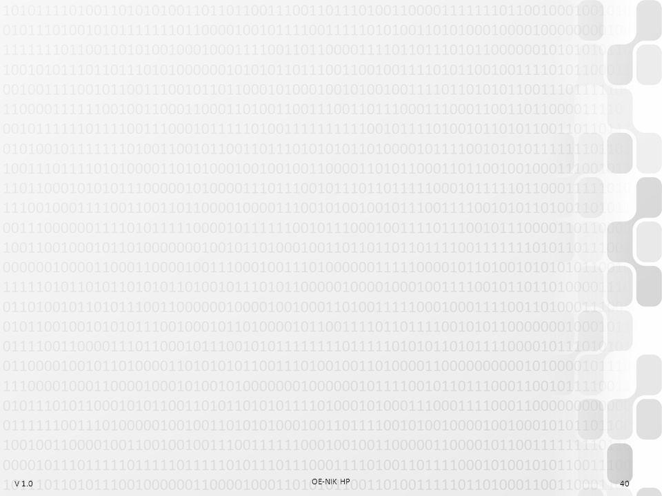 V 1.0 OE-NIK HP 40