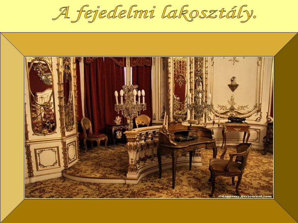 stílusban Ferenc József császár látogatásárakészült. A császári lakosztály 1906-ban, Mária Terézia