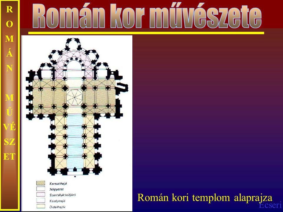 Ecseri R O M Á N M Ű VÉ SZ ET Román kori templom alaprajza