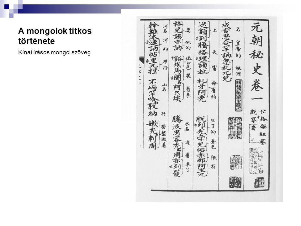 Az ujgur-mongol írás A 13.