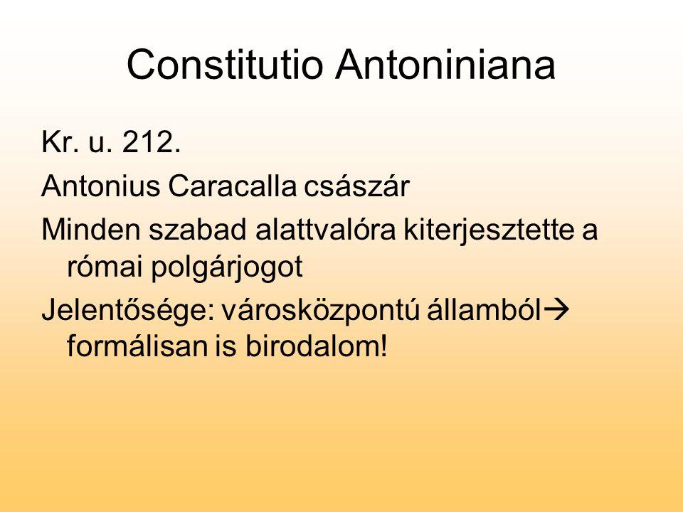 Constitutio Antoniniana Kr.u. 212.
