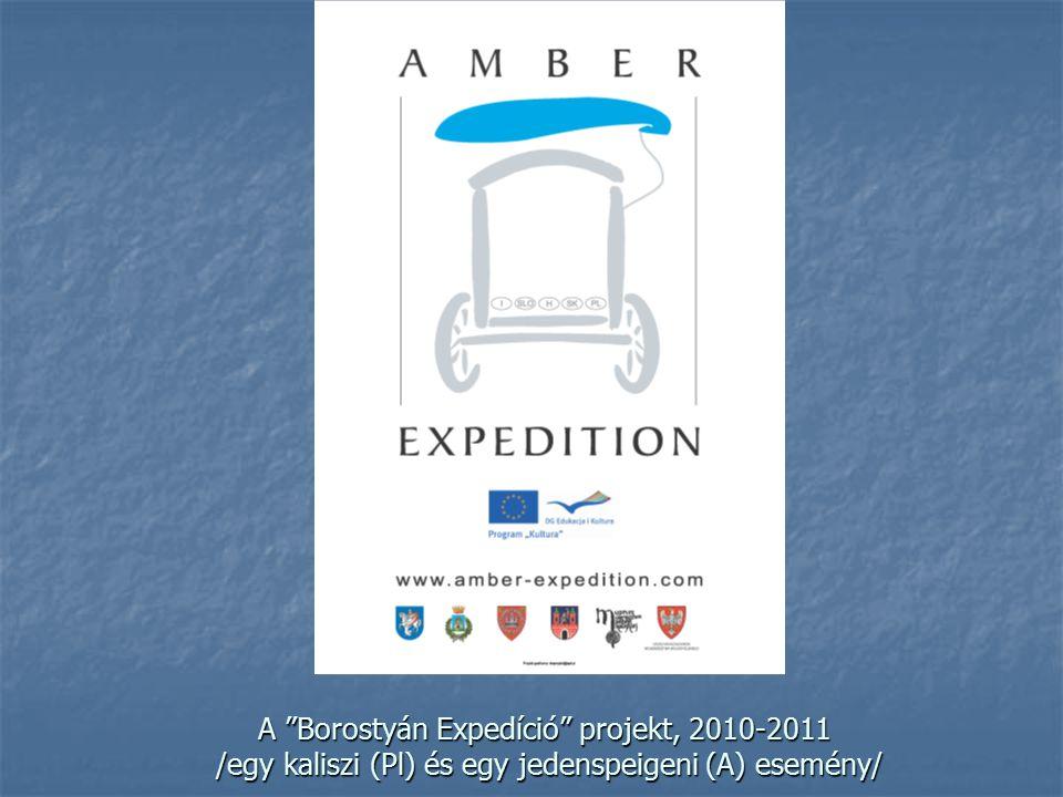 """A """"Borostyán Expedíció"""" projekt, 2010-2011 /egy kaliszi (Pl) és egy jedenspeigeni (A) esemény/"""
