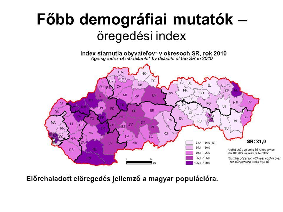 Főbb demográfiai mutatók – költözés
