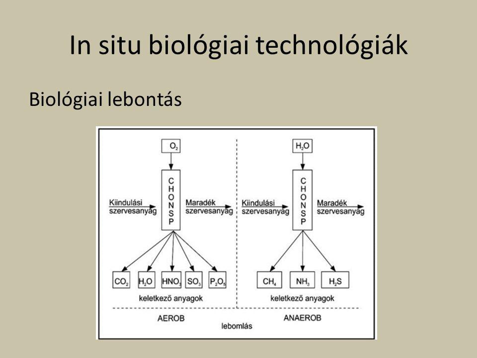 In situ biológiai technológiák Biológiai lebontás