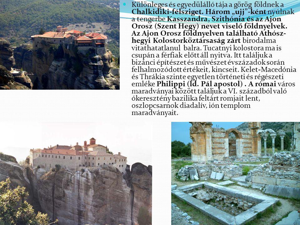 """Különleges és egyedülálló tája a görög földnek a Chalkidiki-félsziget. Három """"ujj""""-ként nyúlnak a tengerbe Kasszandra, Szithónia és az Ajon Orosz (Sze"""