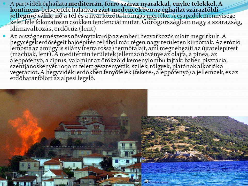 A partvidék éghajlata mediterrán, forró száraz nyarakkal, enyhe telekkel. A kontinens belseje felé haladva a zárt medencékben az éghajlat szárazföldi