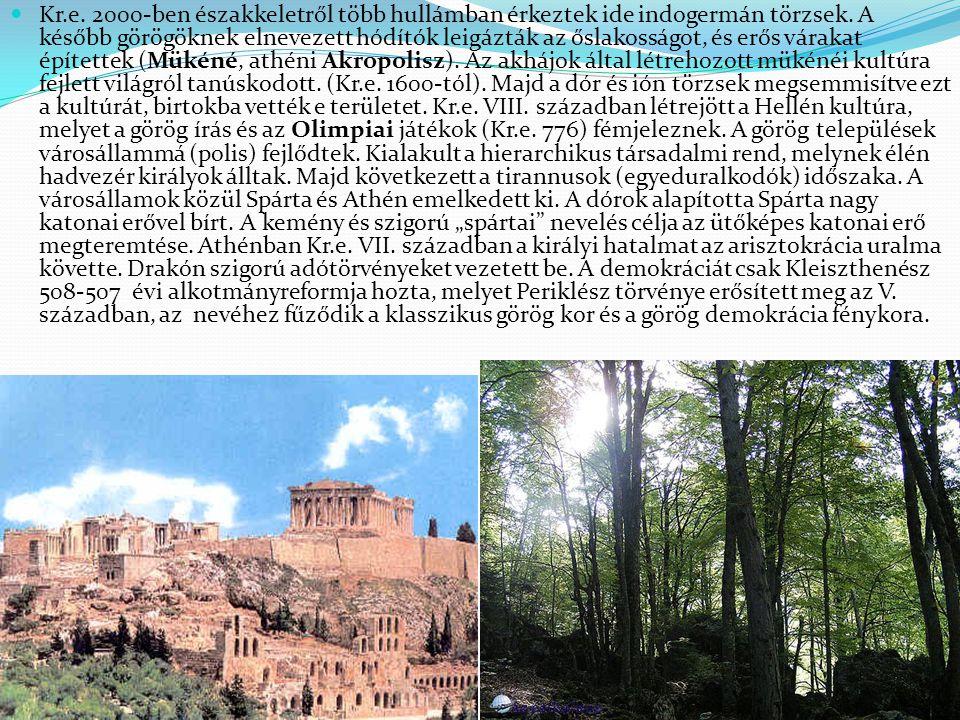 Kr.e. 2000-ben északkeletről több hullámban érkeztek ide indogermán törzsek. A később görögöknek elnevezett hódítók leigázták az őslakosságot, és erős