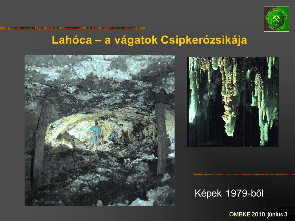 OMBKE 2010. június 3 Lahóca – a vágatok Csipkerózsikája Képek 1979-ből