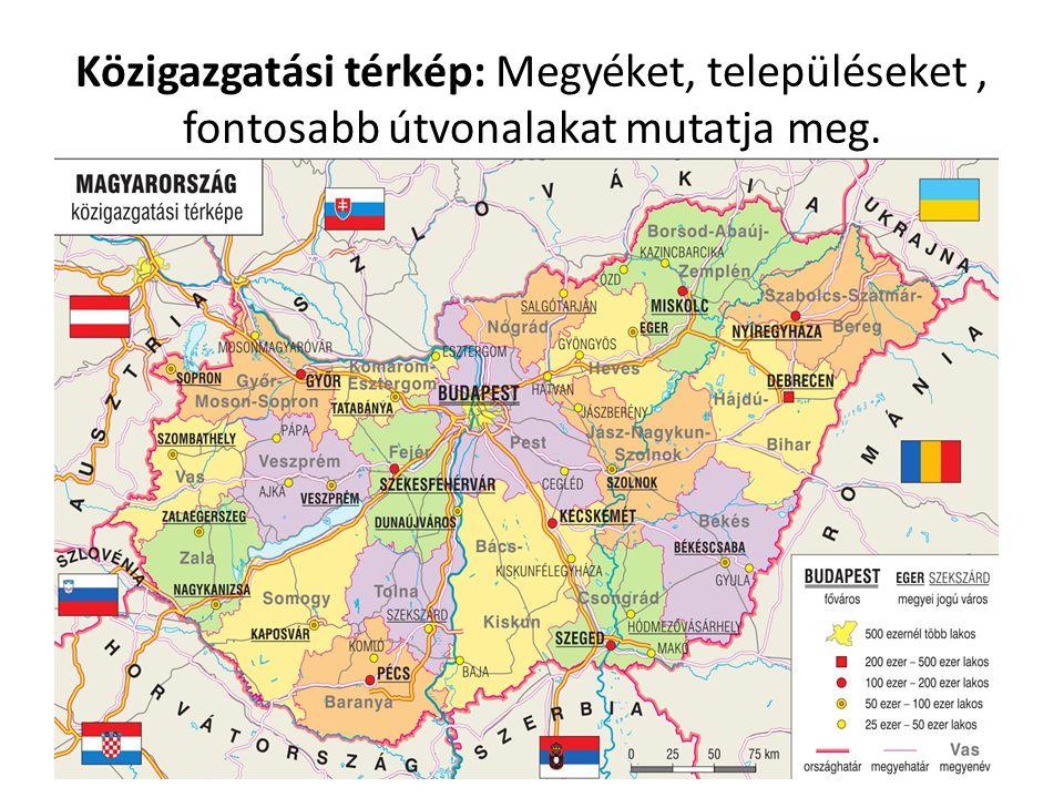 Hazánk településtípusai: falu, város, tanya A település neve előtti jelölés a lakosságszámra utal.