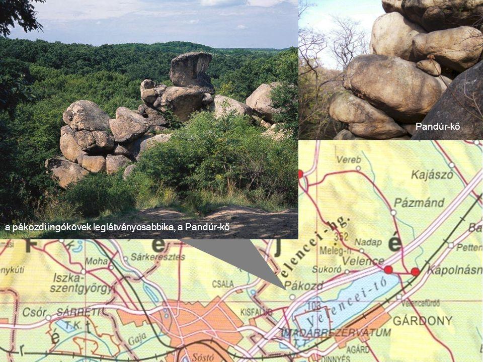 a pákozdi ingókövek leglátványosabbika, a Pandúr-kő Pandúr-kő