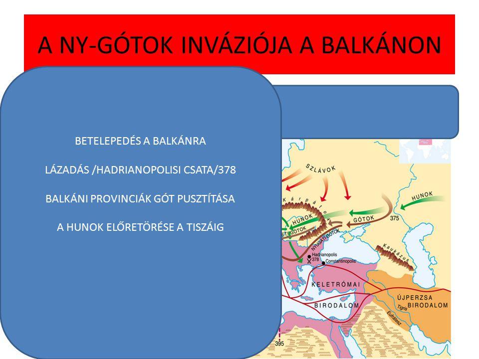 A BIRODALOM VÉGLEGES KETTÉOSZTÁSA/395 I.THEODOSIUS FELOSZTÁSA/395 HONORIUS/MEDIOLÁNUM ÉS RAVENNA ARCADIUS/CONSTANTINOPOLIS