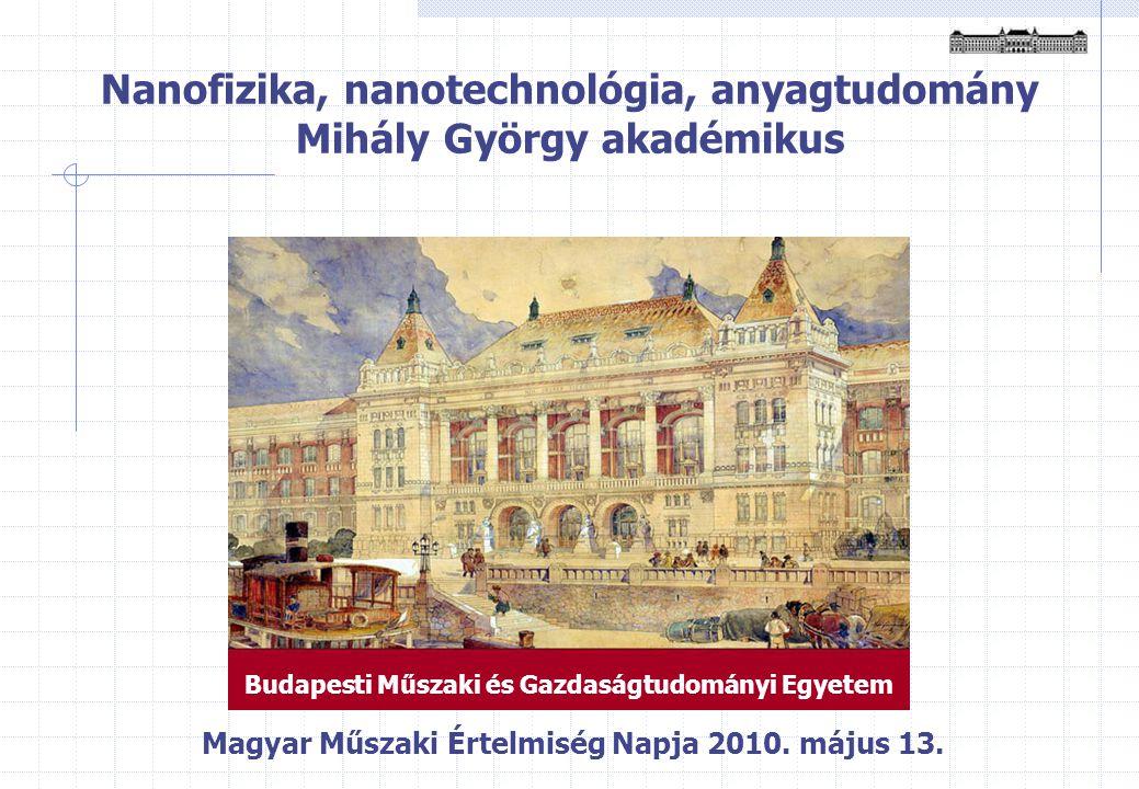 Nanofizika, nanotechnológia, anyagtudomány Mihály György akadémikus Magyar Műszaki Értelmiség Napja 2010.