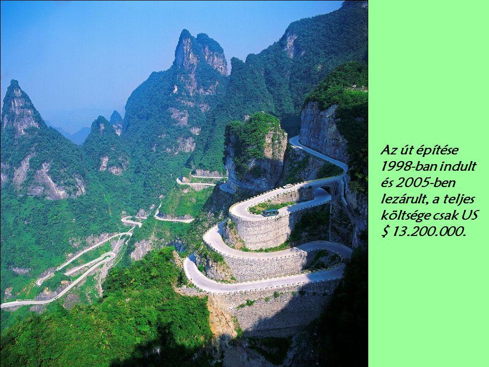 ... És elkezd emelkedni, és fordulni. Az út emelkedik 3600 láb (1100m) egy magasságban 200 m és 1300 m tengerszint feletti magasságban.…