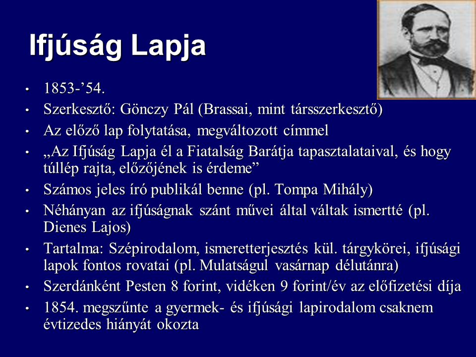 Ifjúság Lapja 1853-'54. 1853-'54.