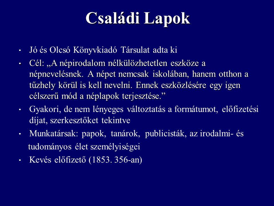 """Jó és Olcsó Könyvkiadó Társulat adta ki Cél: """"A népirodalom nélkülözhetetlen eszköze a népnevelésnek."""