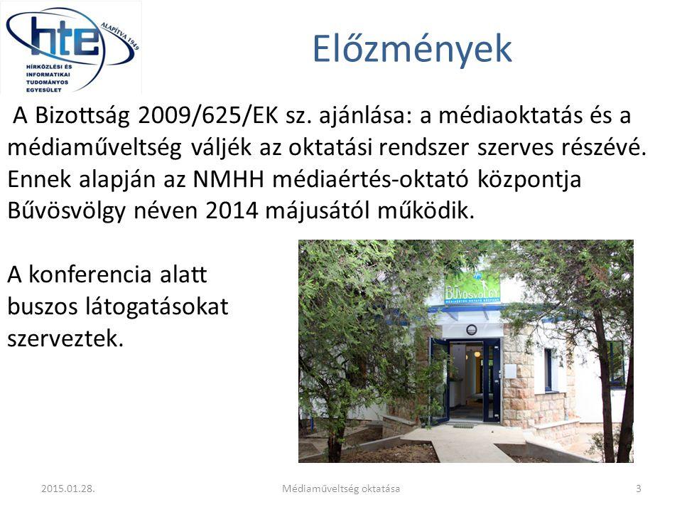 Előzmények A Bizottság 2009/625/EK sz. ajánlása: a médiaoktatás és a médiaműveltség váljék az oktatási rendszer szerves részévé. Ennek alapján az NMHH