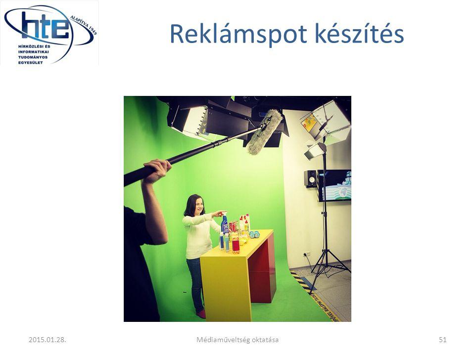 Reklámspot készítés 2015.01.28.Médiaműveltség oktatása51