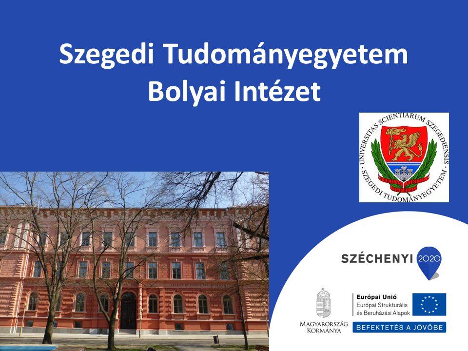 Szegedi Tudományegyetem Bolyai Intézet