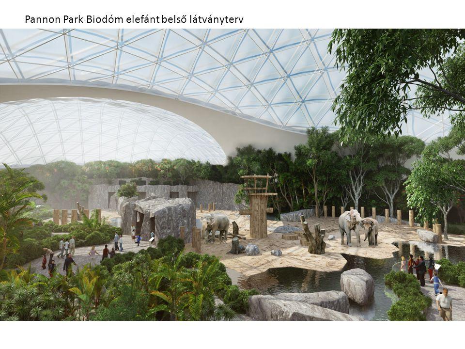Pannon Park Biodóm elefánt belső látványterv