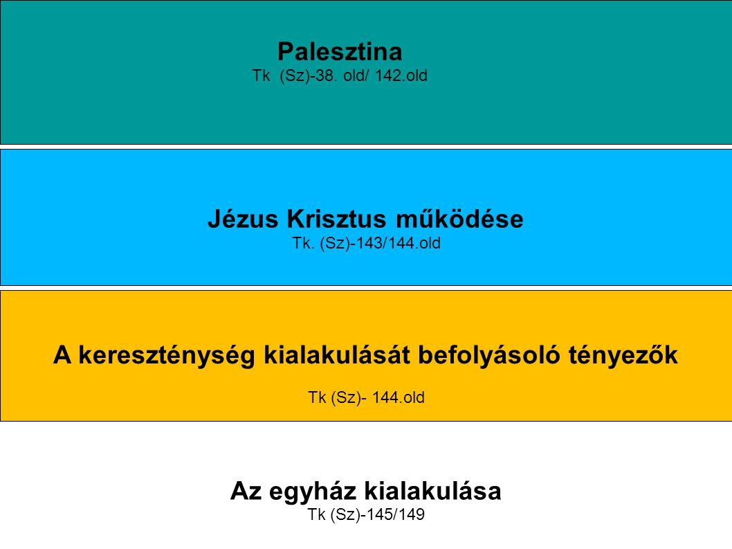 Palesztina Tk (Sz)-38.old/ 142.old Jézus Krisztus működése Tk.