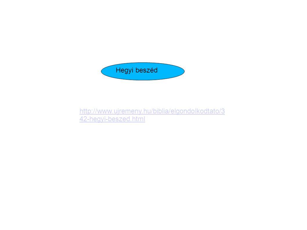 http://www.ujremeny.hu/biblia/elgondolkodtato/3 42-hegyi-beszed.html Hegyi beszéd
