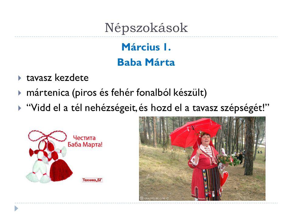 """Népszokások Március 1. Baba Márta  tavasz kezdete  mártenica (piros és fehér fonalból készült)  """"Vidd el a tél nehézségeit, és hozd el a tavasz szé"""