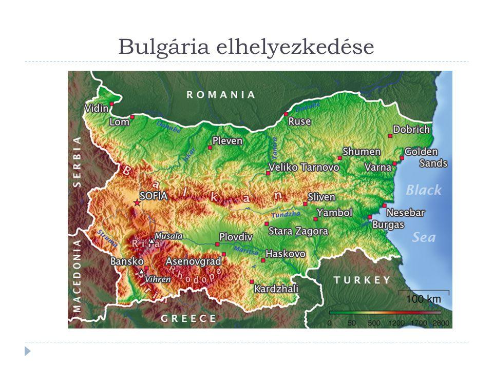 Bulgária elhelyezkedése