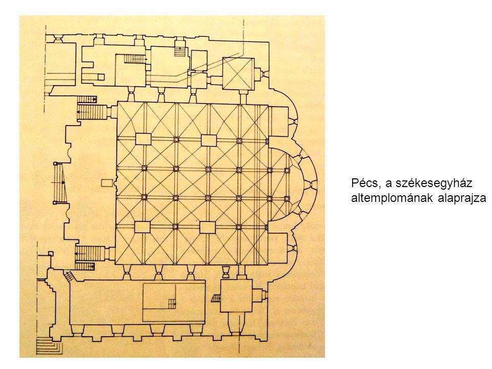 Pécs, a székesegyház altemplomának alaprajza