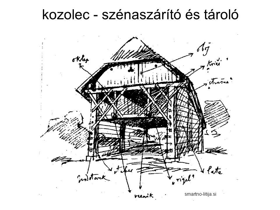 kozolec - szénaszárító és tároló smartno-litija.si