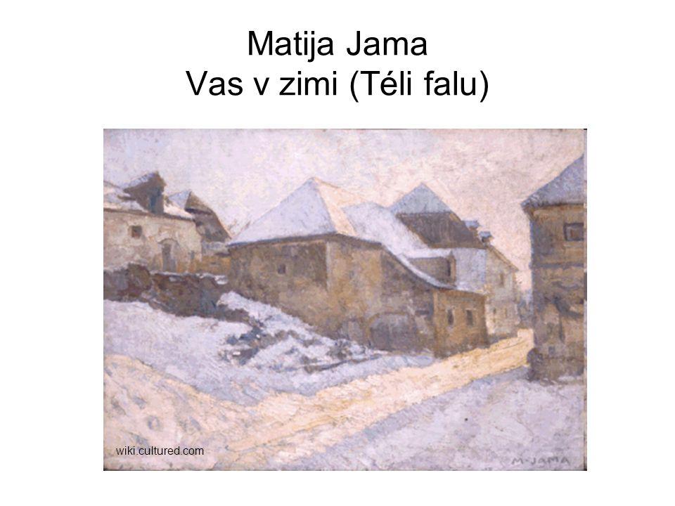 Matija Jama Vas v zimi (Téli falu) wiki.cultured.com