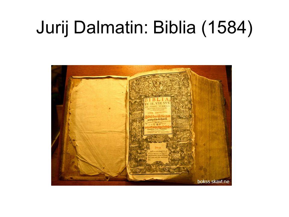Jurij Dalmatin: Biblia (1584) bokss.skavt.ne