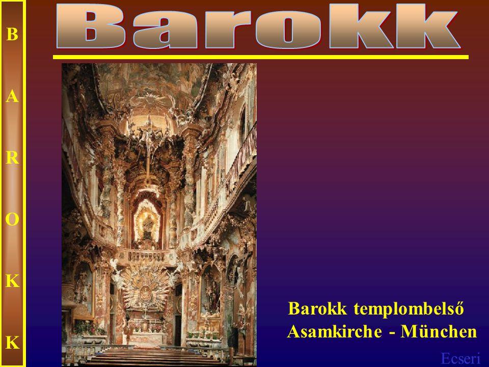 Ecseri BAROKKBAROKK Templombelső Mexikó
