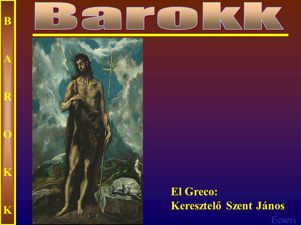 Ecseri BAROKKBAROKK El Greco: Angyali üdvözlet