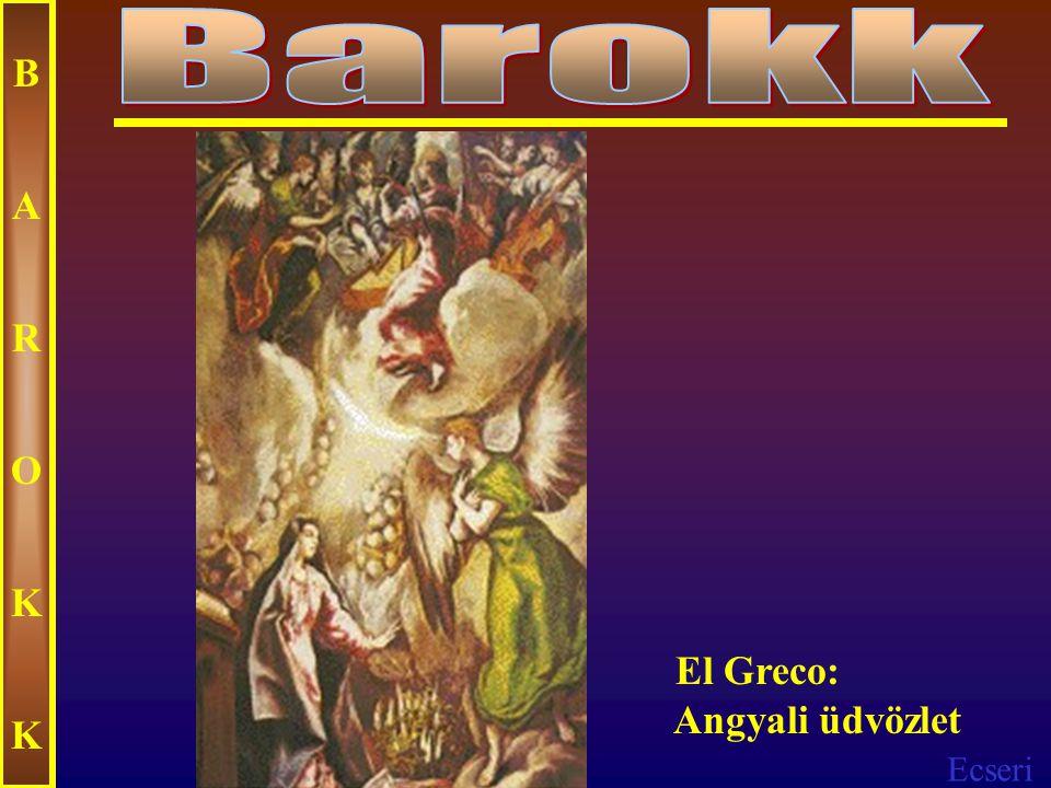 Ecseri BAROKKBAROKK El Greco: Szeplőtelen fogantatás