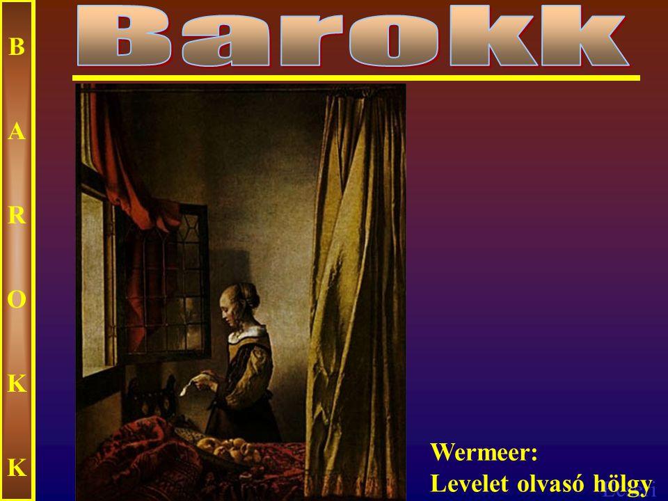 Ecseri BAROKKBAROKK Wermeer: Tejet osztó asszany