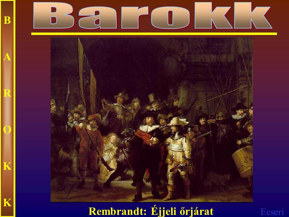 Ecseri BAROKKBAROKK Rembrandt: Fákkal szegélyezett folyó